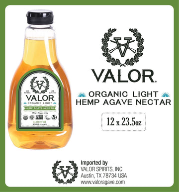 Valor Agave Organic Light Hemp Agave Nectar, 23.5 oz., 12 Count Valor Agave Valor Spirits, Inc.