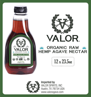 Valor Agave Organic Raw Hemp Agave Nectar, 23.5 oz., 12 Count Valor Agave Valor Spirits, Inc.