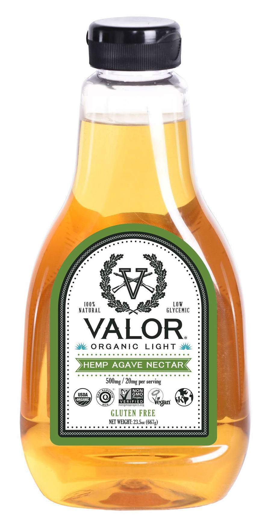 Valor Organic Light Hemp Agave Nectar 23.5 oz Valor Agave Valor Spirits, Inc.