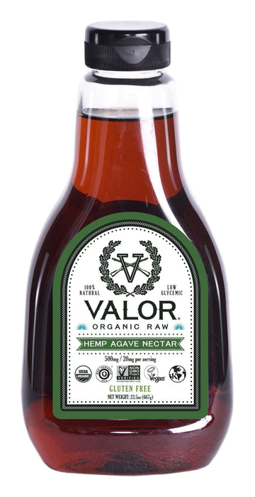 Valor Organic Raw Hemp Agave Nectar 23.5 oz Valor Agave Valor Spirits, Inc.