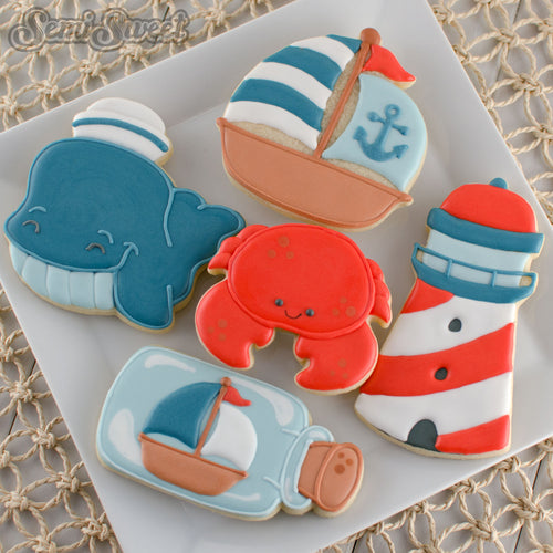 nautical-whale-cookies-plate