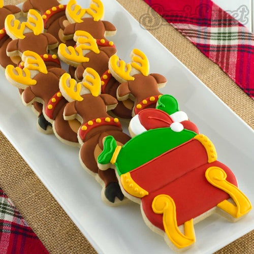 Santa in Flight Cookie Cutter Platter