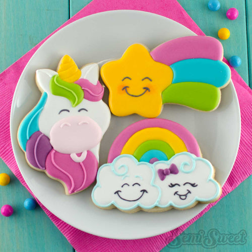 unicorn-head-cookies-rainbow-cloud