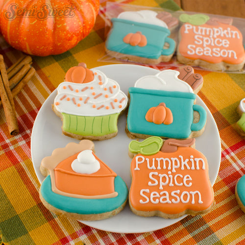 Pumpkin Spice Mini Cookie Cutter Set