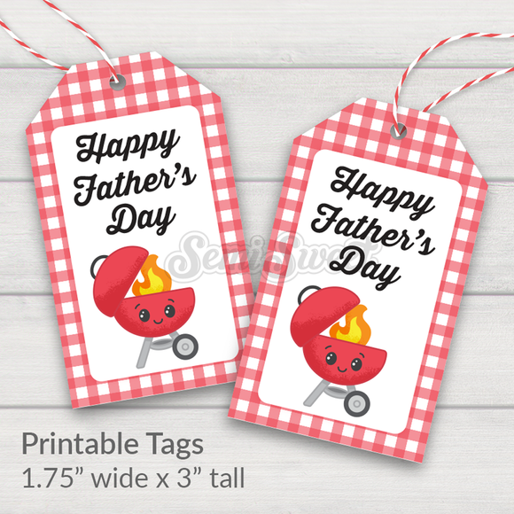 Happy Father's Day Grill- Instant Download Printable Tag