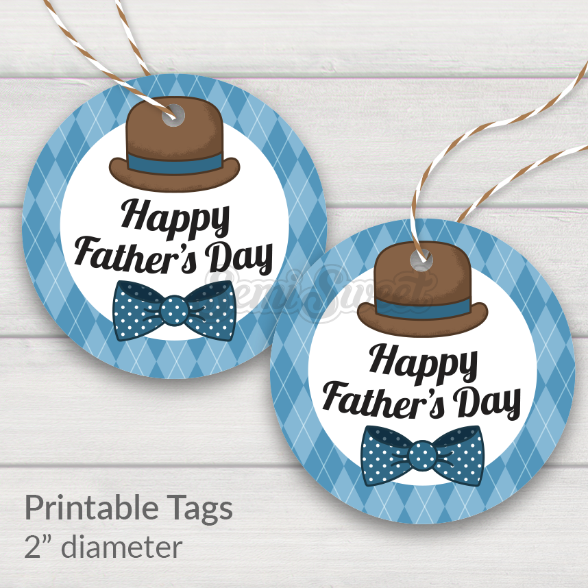 Dapper Happy Father's Day - Instant Download Printable 2