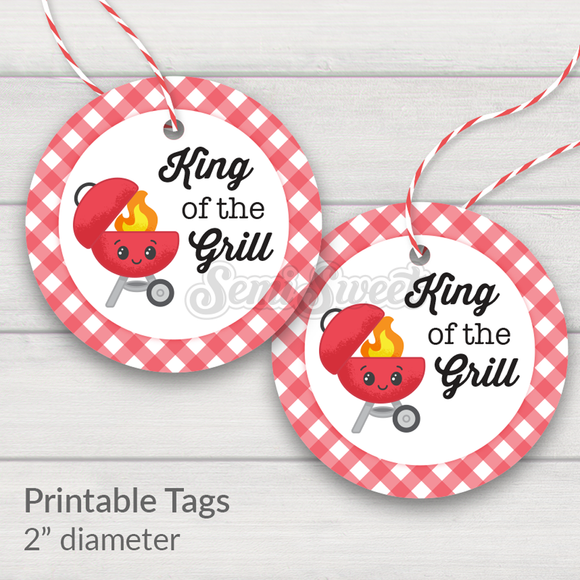 King of the Grill - Instant Download Printable 2