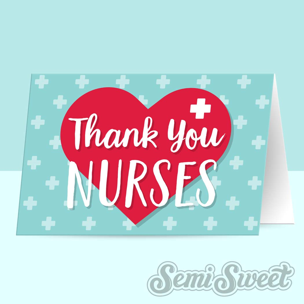Thank You Nurses  - Instant Download Printable Bag Topper