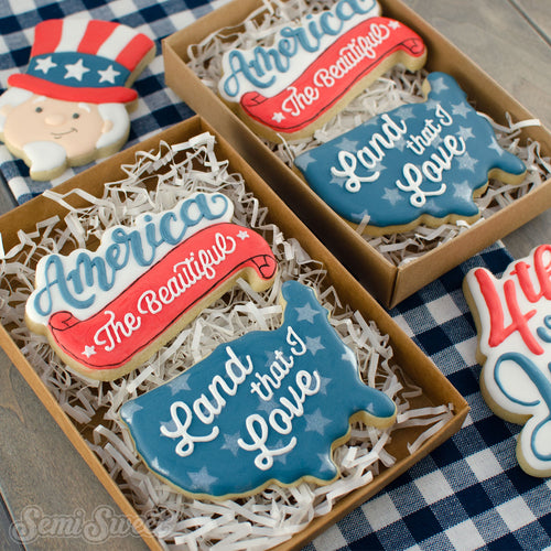 Wide USA Map Cookie Cutter