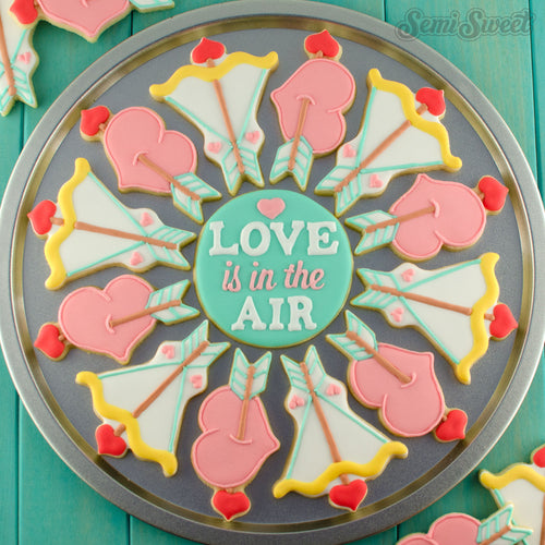 Hearts and Arrows Cookie Platter