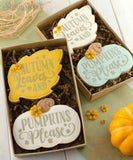 Autumn Leaf & Pumpkin Cookie Cutter Set