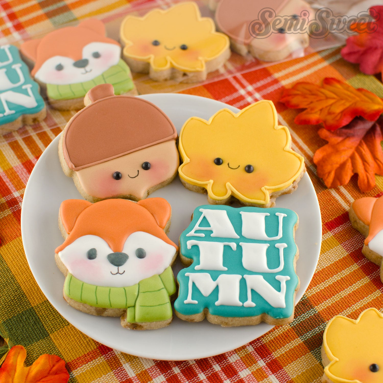 Autumn Letters Cookie Cutter