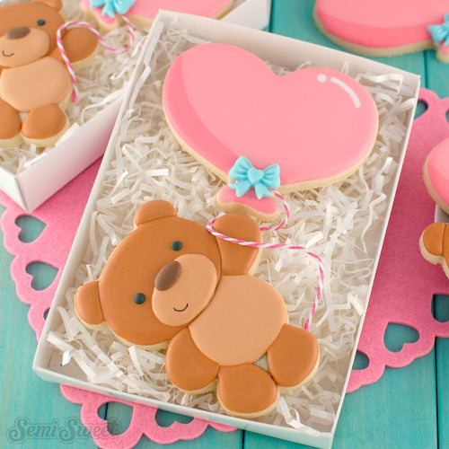 Balloon Teddy Bear Cookie Cutter