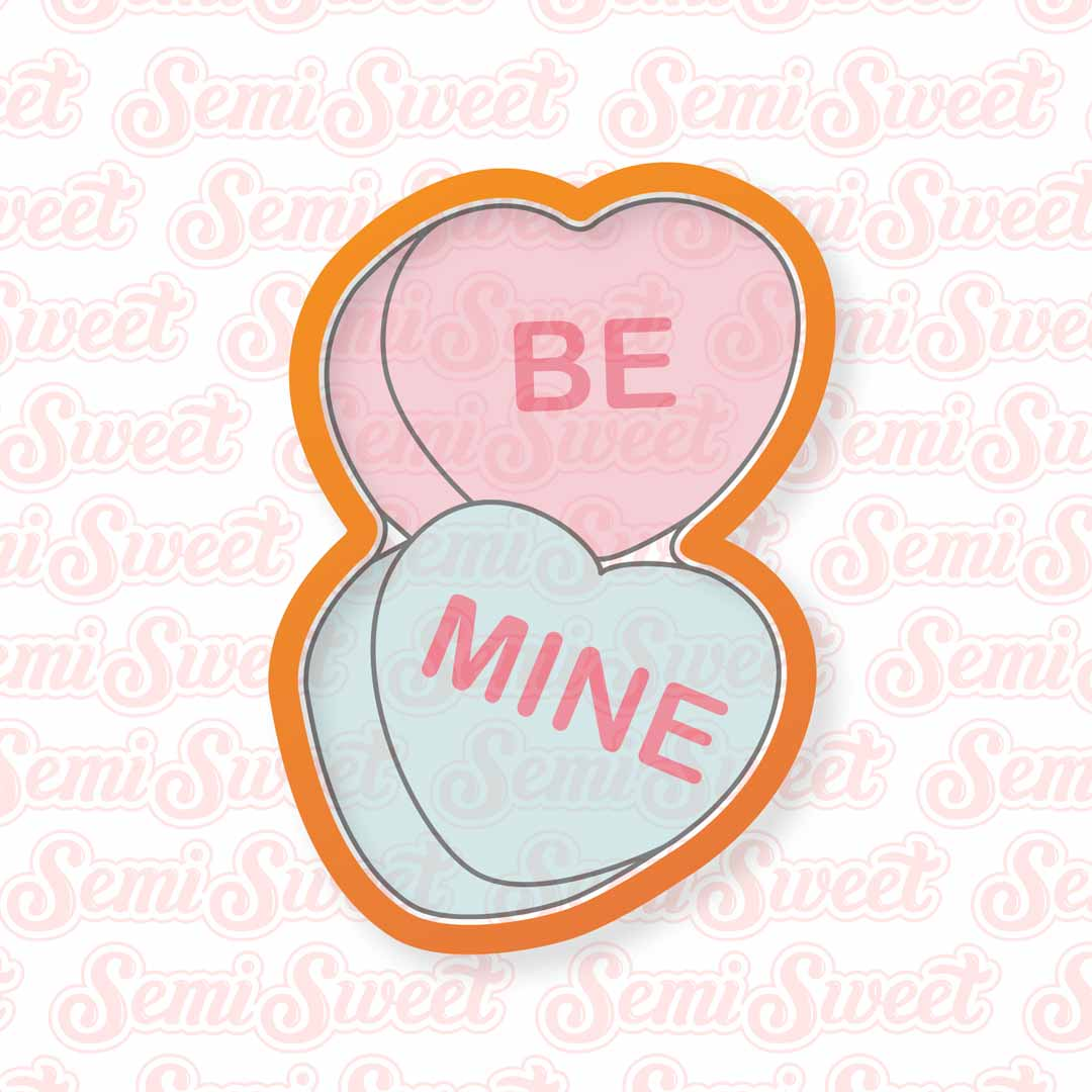 candy hearts pair cookie cutter