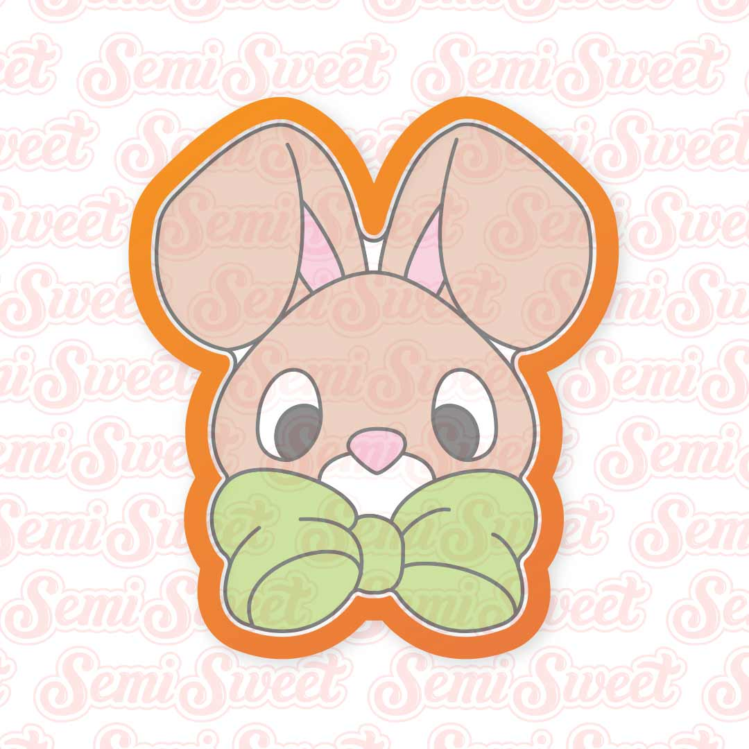 Bow Bunny Boy Cookie Cutter | Semi Sweet Designs