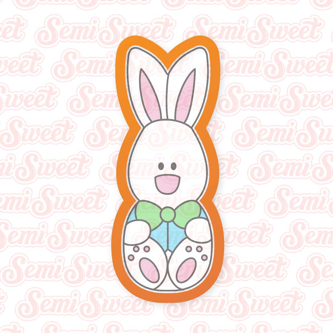 Bunny Easter Stick Cookie Cutter | Semi Sweet Designs
