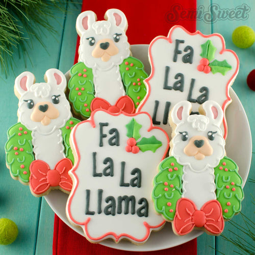 Llama in Wreath Cookie Cutter
