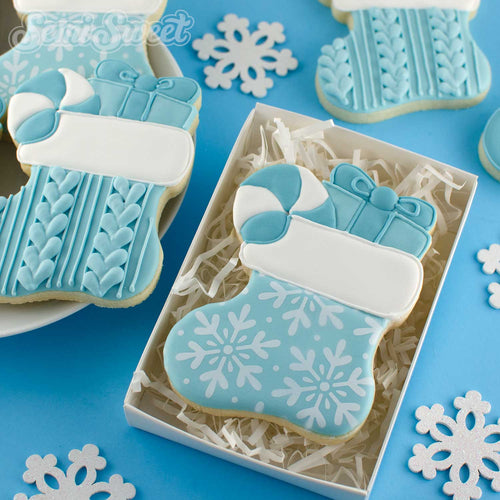 christmas stocking cookies | Semi Sweet Designs