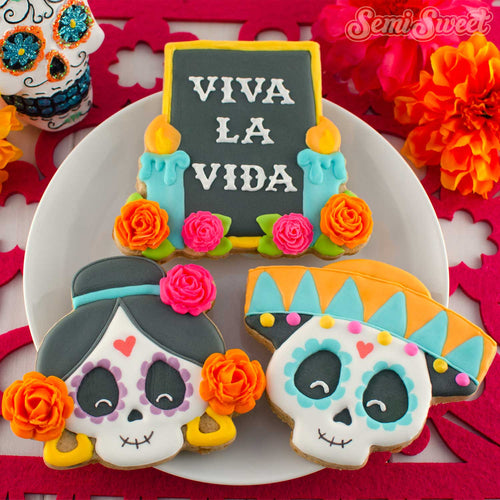 day of the dead cookies in a box