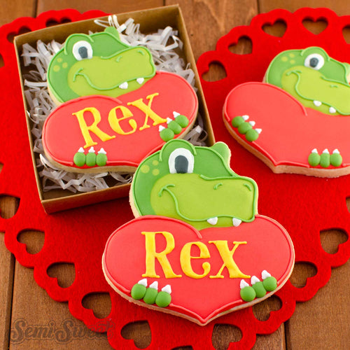 Dinosaur with Heart Cookie Cutter