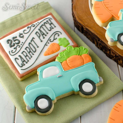 Truck with Carrots Cookie Cutter