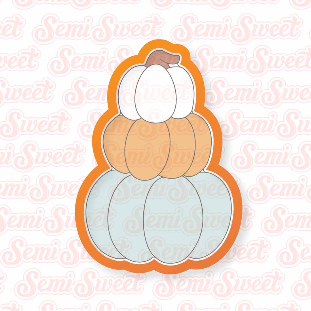 Stacked Pumpkins Cookie Cutter | Semi Sweet Designs