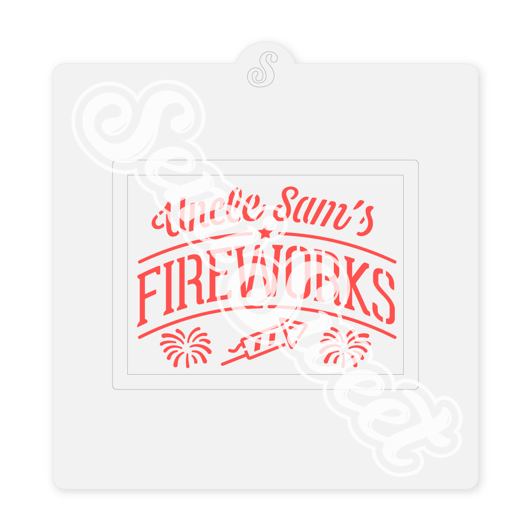 Fireworks Farm Sign Stencil