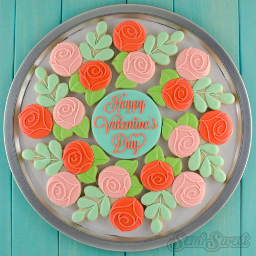 Floral Wreath Platter Cookie Cutter Set