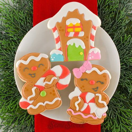 Gingerbread Candy Girl Cookie Cutter