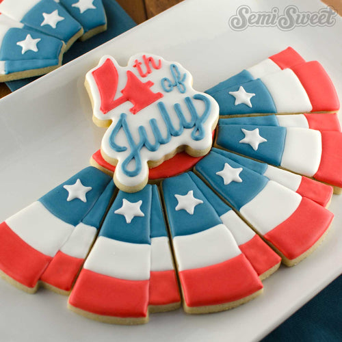 4th of July Script Cookie Cutter
