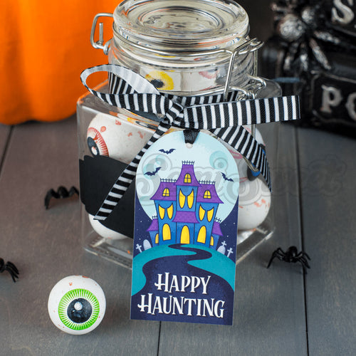 Haunted House - Instant Download Printable Tag