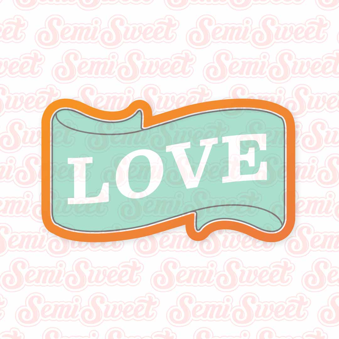 Valentine Banner Cookie Cutter | Semi Sweet Designs