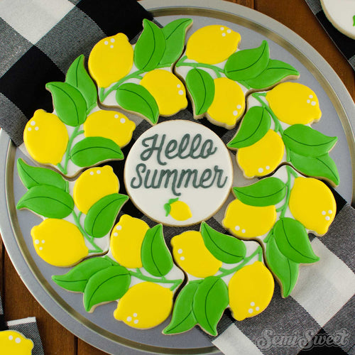 Lemon Wreath Cookie Cutter | Semi Sweet Designs