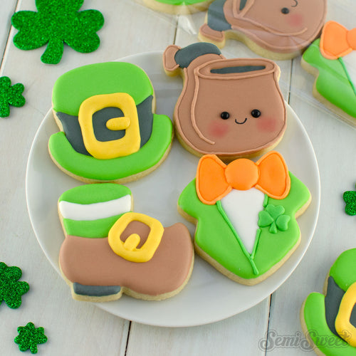 Leprechaun Clothes Mini Cookie Cutter Set