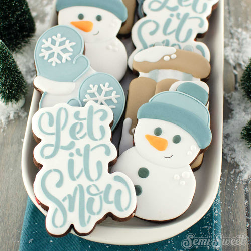 Let It Snow Script Cookie Cutter
