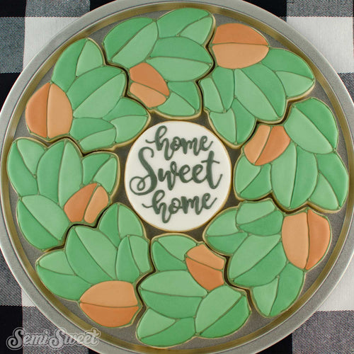 Magnolia Wreath Platter Cookie Cutter Set