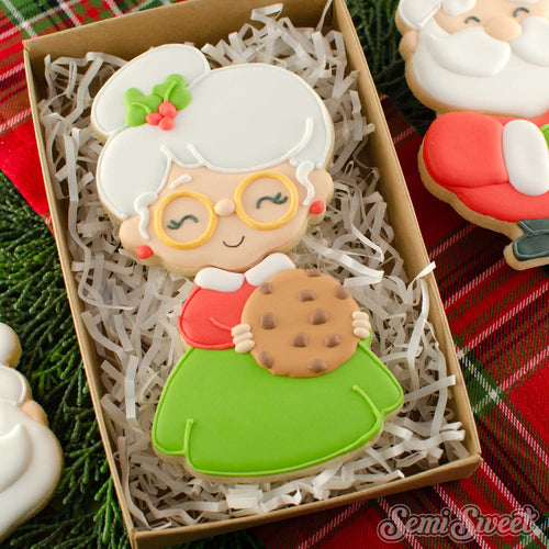 Cookie Mrs. Claus Head Cookie Cutter