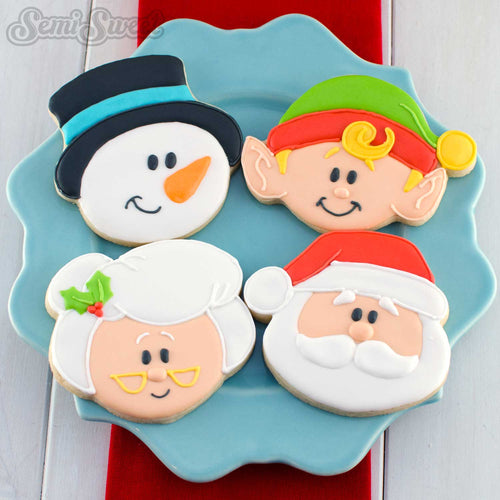 North Pole Series Head Cookie Cutters