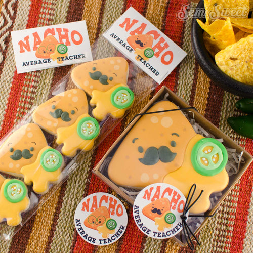 "Nacho Average Teacher - Instant Download Printable 2"" Circle Tag"