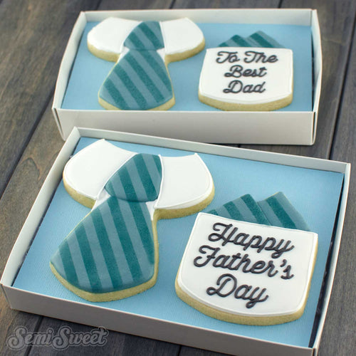 father's day suit cookie set