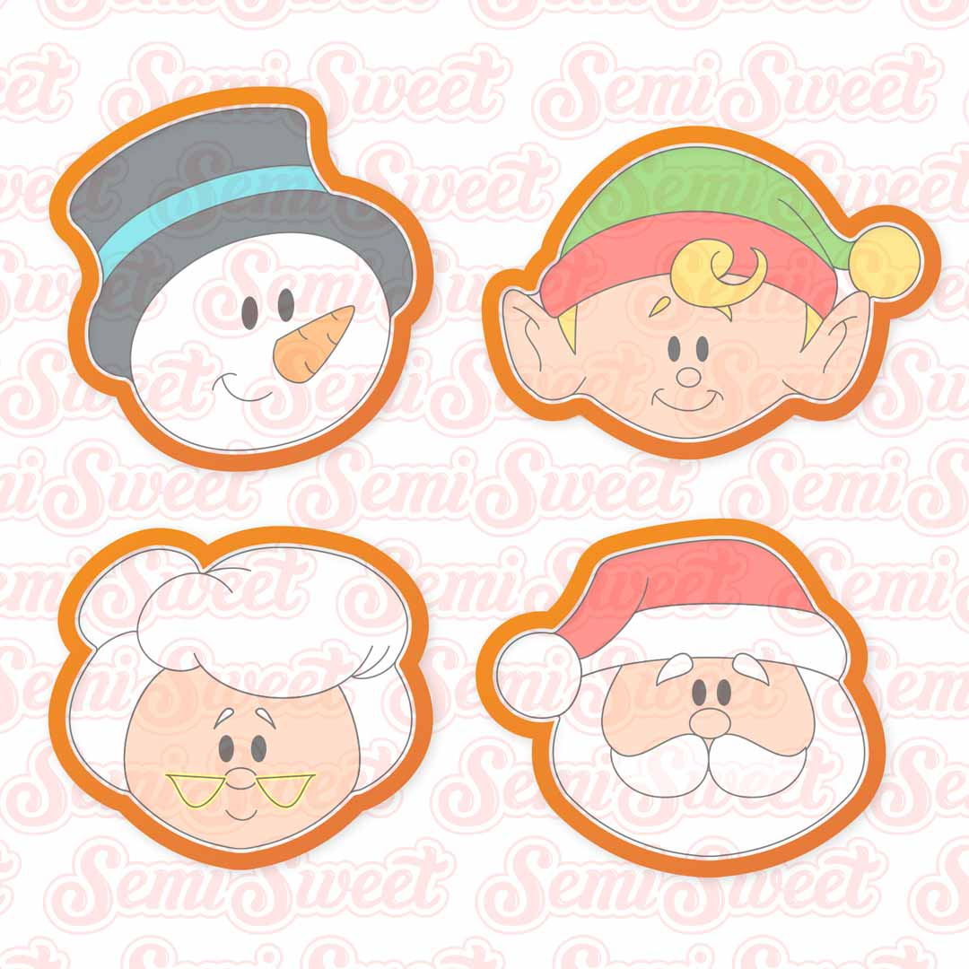 North Pole Series Head Cookie Cutters | Semi Sweet Designs