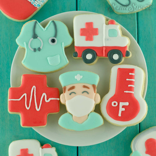 Nurse medical cookie cutters