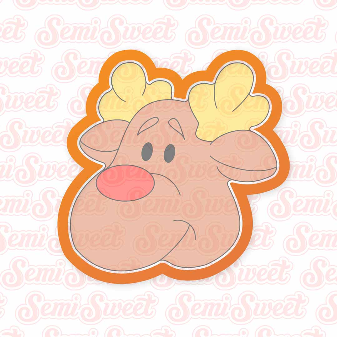 Reindeer Head Cookie Cutter | Semi Sweet Designs