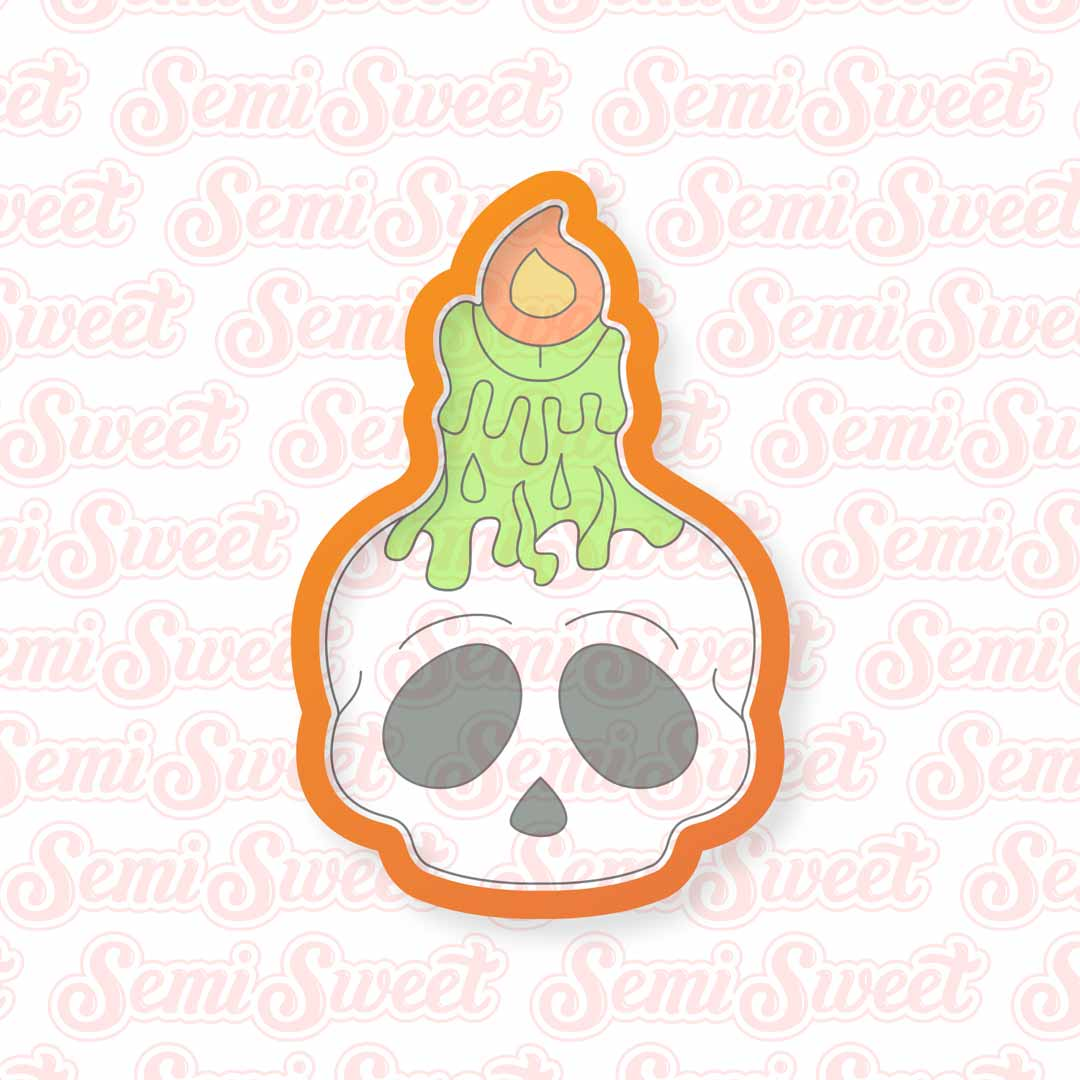 Skull Candle Cookie Cutter | Semi Sweet Designs
