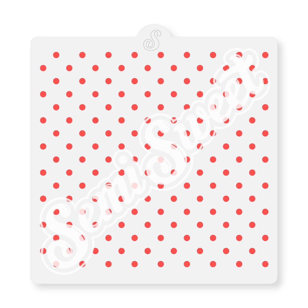 small polka dots stencil for cookies