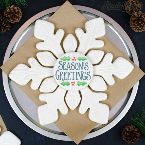 Snowflake Platter Cookie Cutter Set