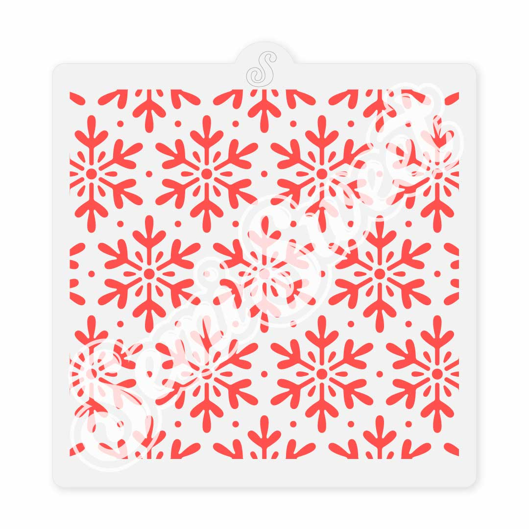 Snowflakes cookie stencil | Semi Sweet Designs