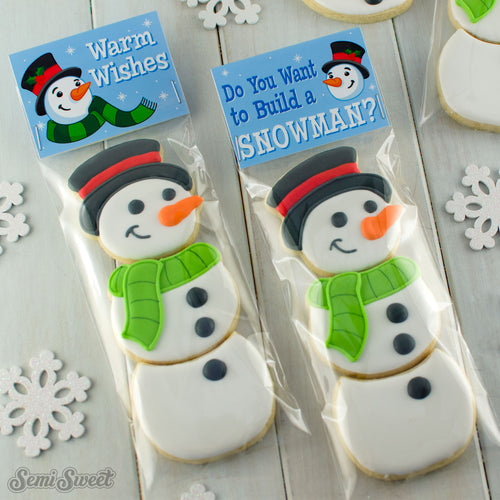 Snowman Warm Wishes - Instant Download Printable Bag Topper