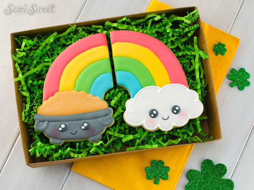 Half Rainbow Cloud Cookie Cutter