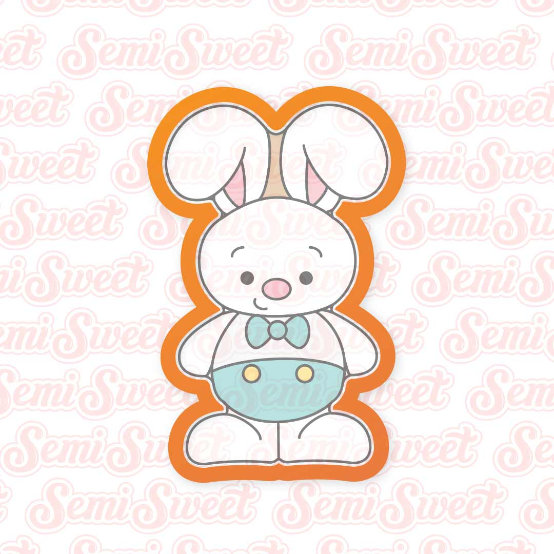 Standing Bunny Boy Cookie Cutter | Semi Sweet Designs